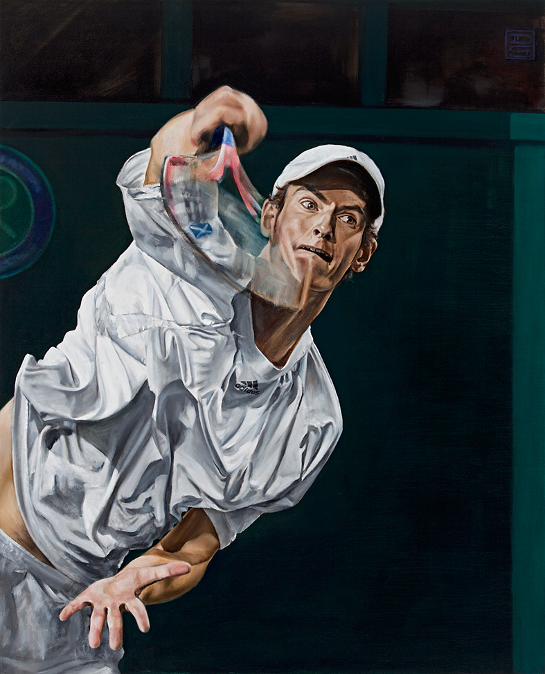 Andy Murray painting 001