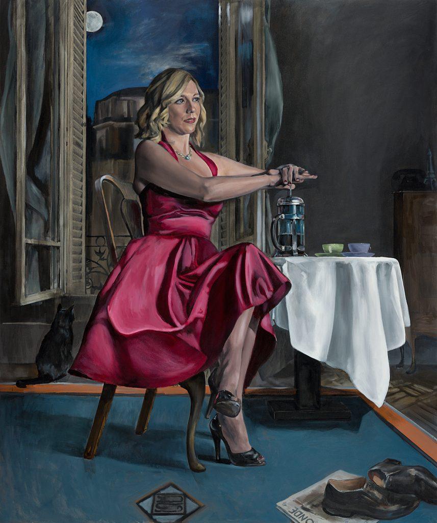 """Paris Room"" Oil on Panel,  122cm x 101cm.                      P.O.A."